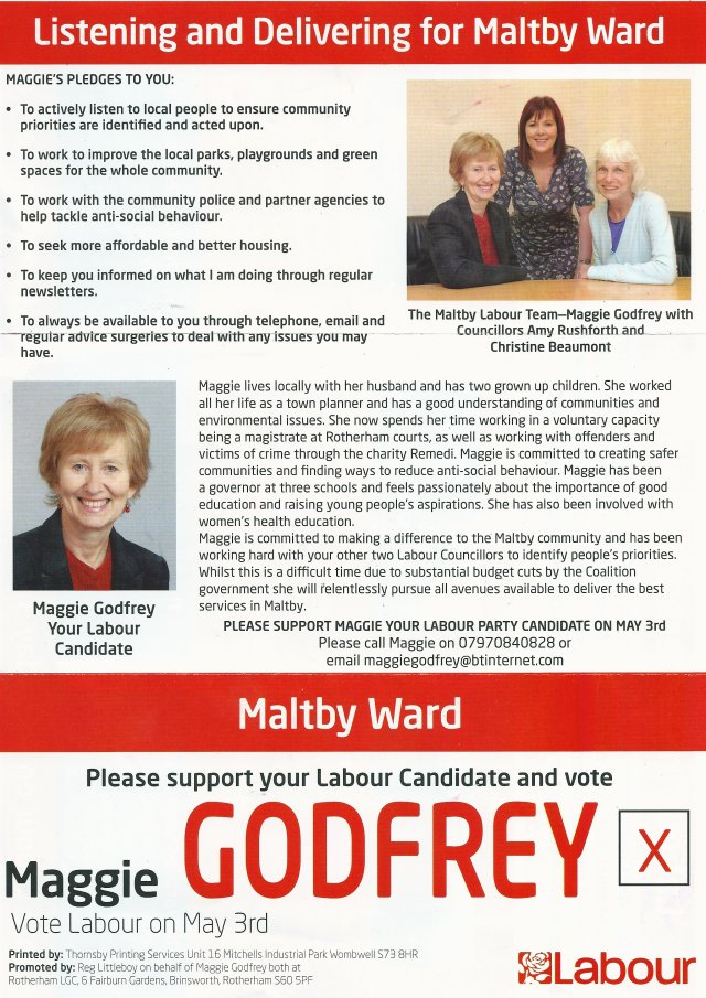 Labour Candidate for Maltby 1
